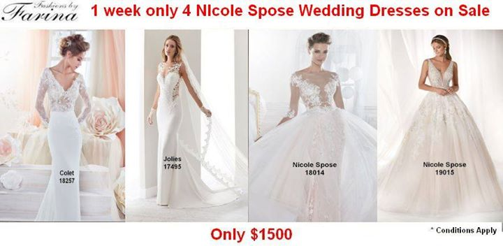 03612cc582d1 4 Nicole Sposa Gowns now on sale ... - Fashions by Farina