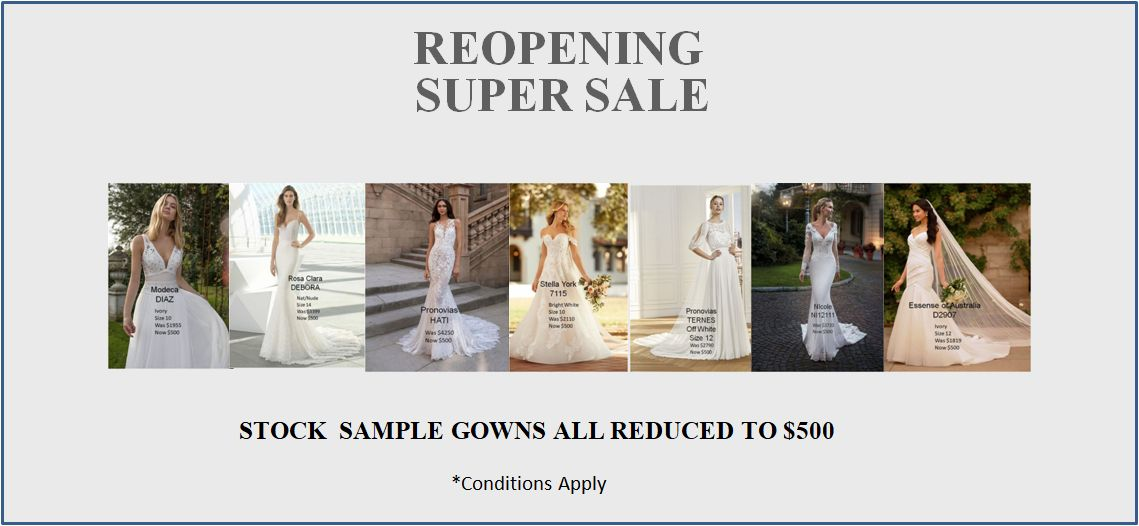 Reopening Sale - All Gowns $500